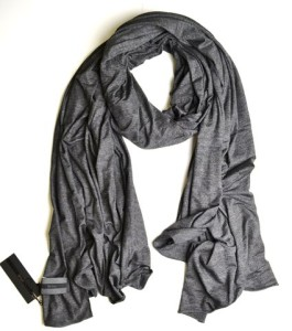 Fluxus Nomad Scarf in Charcoal Grey Unisex Oprah's List Cotton Made in USA