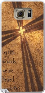 Galaxy Note 5 Case Bible Verse,Topgraph Samsung Galaxy Note 5 Case Christian Quotes By His Wounds We Are Healed Isaiah 535