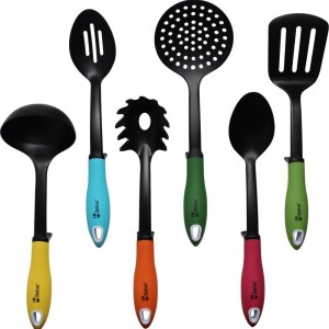 Kitchen Utensils Non-stick Cooking Tools Set by Chefcoo™ - Includes 7 Pieces Cookware Gadgets - Soup Ladle, Skimmer, Slotted Spoon, Slotted Turner