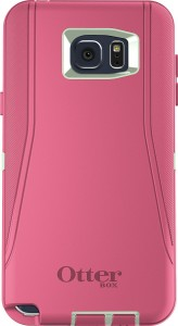 OtterBox Defender Cell Phone Case for Samsung Galaxy Note5 - Frustration-Free Packaging - Sage GreenHibiscus Pink