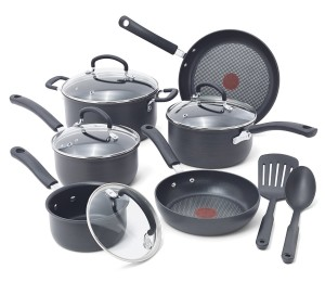 T-fal E918SC Ultimate Hard Anodized Durable Nonstick Expert Interior Thermo-Spot Heat Indicator Anti-Warp Base Dishwasher Safe PFOA Free Oven Safe Cookware