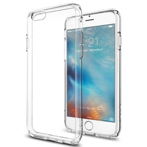 iPhone 6s Case, Spigen® [Ultra Hybrid] AIR CUSHION [Crystal Clear] Clear back panel + TPU bumper for iPhone 6 6s - Crystal Clear (SGP11598)