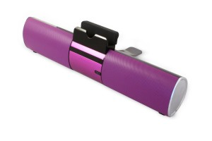 Digital Gadgets DGNOVSPB-PL Bluetooth Speaker Bar with Dock for Smartphone or Tablet, Purple