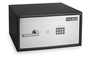 First Alert 2064F Digital Anti-Theft Laptop Safe, 1.24 Cubic Feet, GraySilver