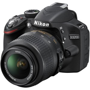 Nikon D3200 24.2 MP CMOS DSLR Camera w 18-55mm VR Lens (Black)(Certified Refurbished)