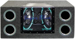 Pyramid BNPS102 10-Inch 1,000-Watt Dual-Bandpass System with Neon Accent Lighting