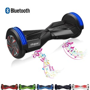 Self Balancing Scooter, Skque® 8 Smart Two Wheel Self Balancing Electric Scooter with Bluetooth Speaker and Front LED Lights with LGSamsungSanyangP