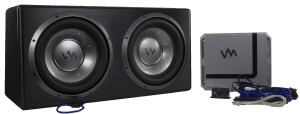 VM Audio Dual 12 Sealed 4800 Watt Complete Car Stereo Subwoofer Bass Package