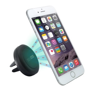 Vent Car Mount, TechMatte® MagGrip Air Vent Magnetic Universal Car Mount Holder (Black) for iPhone 6S6, Galaxy S6S6 Edge, LG