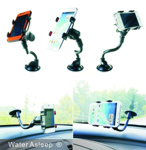 WATER ASLEEP One Touch Windshield Universal Smartphone Car Mount Holder Cradle for Iphone 6s 6s Plus 6s+ 6 6+ 5 5s 5c 4 4s Sa