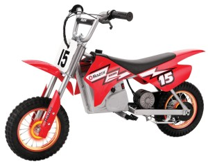 Razor MX400 Dirt Rocket with Lighted Valve Stem, Red