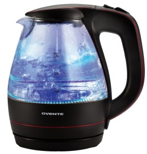 Ovente KG83B Glass Electric Kettle, 1.5-L, Black