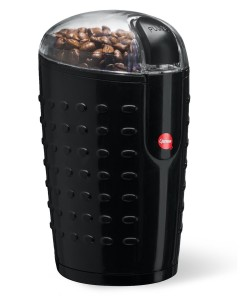 Quiseen One-Touch Electric Coffee Grinder. Grinds Coffee Beans, Spices, Nuts and Grains - Durable Stainless Steel Blades - Sleek Black Design