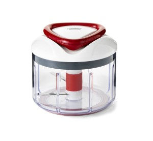 Zyliss Easy Pull Manual Food Processor and Chopper, Red
