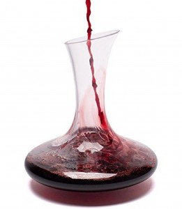 Best Red Wine Decanter By Bella Vino - Improves Wine Taste By Softening Tannins - Great Table Centerpiece - Elegant and Effective - Made From 100% Lead Free Premium Crystal Glass - Fits 1000ml Bo