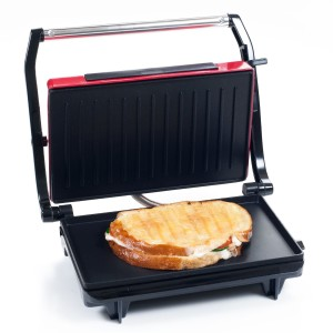 Chef Buddy 82-SW100 Non-Stick Grill and Panini Press, Red