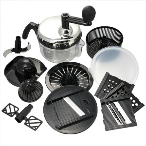 Euro-Gourmet Chef's Rival Chopper Set Grate Slice Manual Food Processor Kitchen