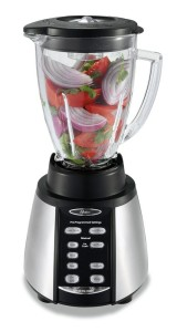 Oster Reverse Crush Counterforms Blender, with 6-Cup Glass Jar, 7-Speed Settings and Brushed Stainless SteelBlack Finish