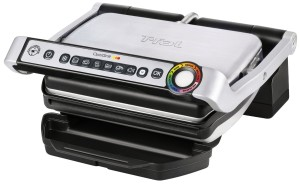T-fal GC702 OptiGrill Stainless Steel Indoor Electric Grill with Removable and Dishwasher Safe plates,1800-watt, Silver