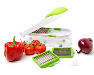 Vegetable's Chef - Onion, Vegetable, Fruit and Cheese Chopper - Dice, Slice and Chop for Salads, Soups, Ragout and More - Free Peeler and Recipe eBook mailed to You