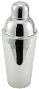 Winco Stainless Steel 3-Piece Cocktail Shaker Set, 16-Ounce