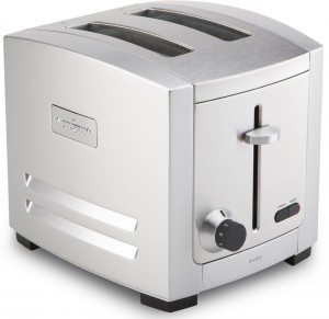 All-Clad TJ802D Stainless Steel 2-Slice Toaster with 6 Browning Control Settings Frozen Bread Setting Bagel Function Kitchen Electric, Silver