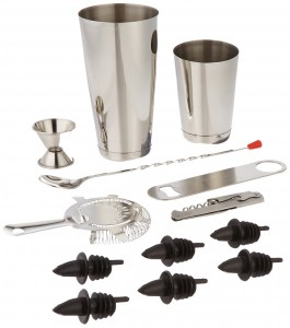 ChefLand 13-Piece Professional Bar Set, Stainless Steel