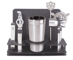 Oggi Pro Stainless-Steel 10-Piece Cocktail Shaker and Bar Tool Set