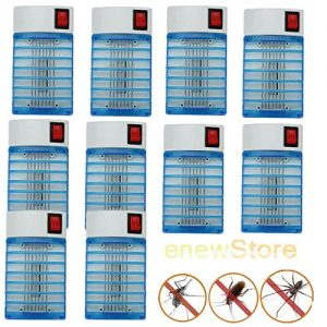 10 X Electric LED Socket Mosquito Fly Bug Insect Trap Zapper Killer Night Lamp