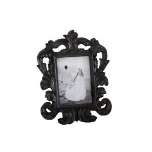 Black Baroque Elegant Place Card HolderPhoto Frame