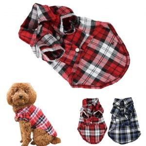 CXB1983(TM)Cute Pet Dog Puppy Clothes Shirt Size XSSML Blue Red Color (M, Red)