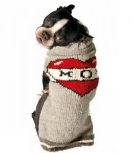 Chilly Dog Tattooed Mom Dog Sweater, Small