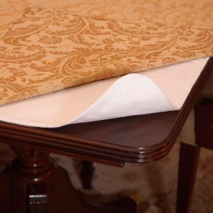 Deluxe Heavy Duty Cushioned Table Pad Size 52 Round, With Cotton Flannel Backing