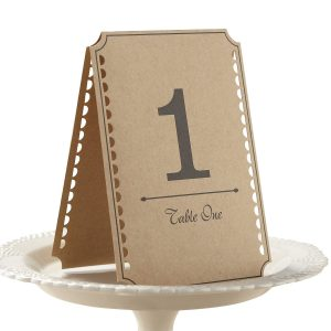 Ginger Ray Vintage Affair Kraft Wedding Table Numbers, Brown