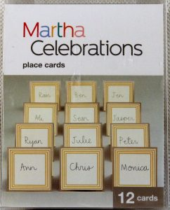 Gold Trim Place Cards By Martha Celebrations