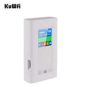 KuWFi 5200mAH Power bank Portable 3G 4G Wireless Router WIFI Router 4G Mobile WiFi Hotspot With SIM Card Slot TF Card Slot with WiFi Repeater function