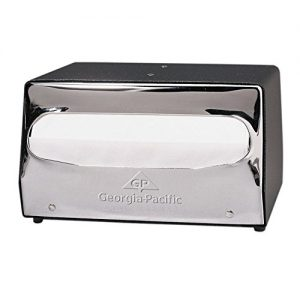 Mini MorNap Black & Chrome Mini Fold Table Model Napkin Dispenser