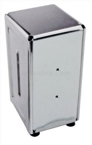 New Star 24074 Stainless Steel Tall Fold Napkin Dispenser, 3.875 by 4.75 by 7.5-Inch