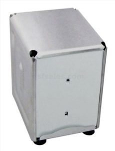 New Star Foodservice 24043 Stainless Steel Short Napkin Dispenser, 3.875 by 4.75 by 5.5-Inch