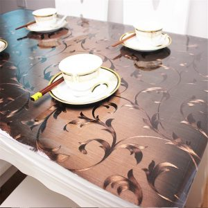 OstepDecor Custom Waterproof PVC Protector for TableDesk Table Pads Table Covers With Multi Size Available, 35.4 x 60 Inches (90 x 152.4cm)