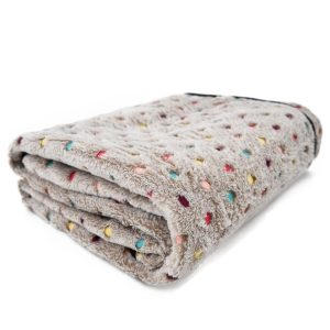PAWZ Road Pet Dog Blanket Fleece Fabric Soft and Cute 2 Colors 2 Sizes