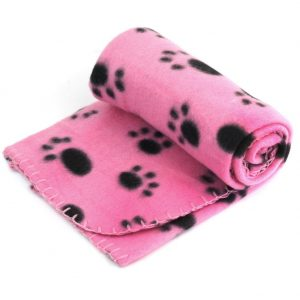 Pet Dog Cat Soft Warm Bed Blanket Mat Paw Print Cushion