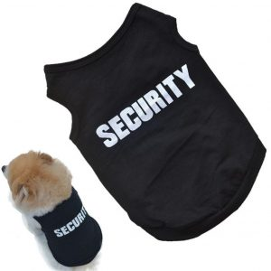 Small Dog Shirt, Voberry® Fashion Pet Puppy Clothes Summer Quote Security Cotton Costumes Pet Dog Cat Funny Shirt T Shirt Black