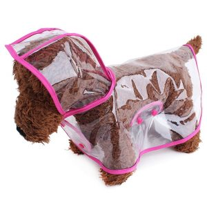 TOPSUNG Waterproof Puppy Raincoat Transparent Pet Rainwear Clothes for Small DogsCats