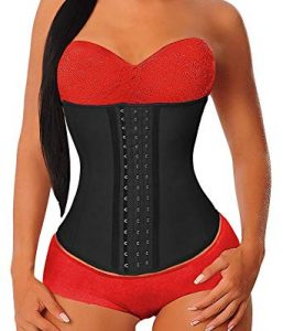 YIANNA Women's Underbust Latex Sport Girdle Waist Trainer Corsets Hourglass Body Shaper
