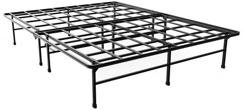 Zinus Demetric 14 Inch Elite SmartBase Mattress Foundation for Big and Tall Extra Strong Support Platform Bed Frame Box Spring Replacement Sturdy Quiet Noise Free Non-Slip, King