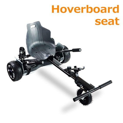 AUBESTKER Hoverboard Go Kart - Compatible with All UL 2272 Hover Board - Fits for Kids Adults - Adjustable Size Kart - Shock Absorber and Phone Holder