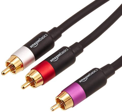 AmazonBasics 1-Male to 2-Male RCA Audio Stereo Subwoofer Cable - 15 Feet