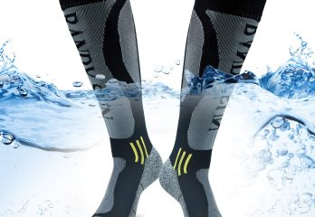 BROTOU 100% Waterproof Socks Mid Knee Length Socks Breathable and Windproof for Running Climbing Cycling Trekking Outdoor Excuirsion [SGS Certified]