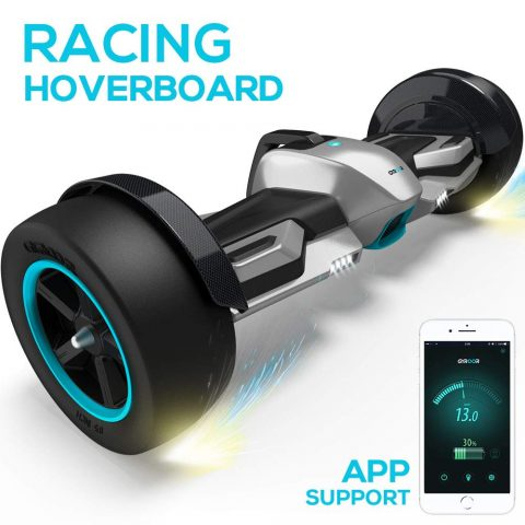 "Gyroor G-F1 Hoverboard,8.5"" Off Road Hover Board with Bluetooth Speaker&LED Lights,Fastest Racing Self Balancing Scooter with App for Kids"